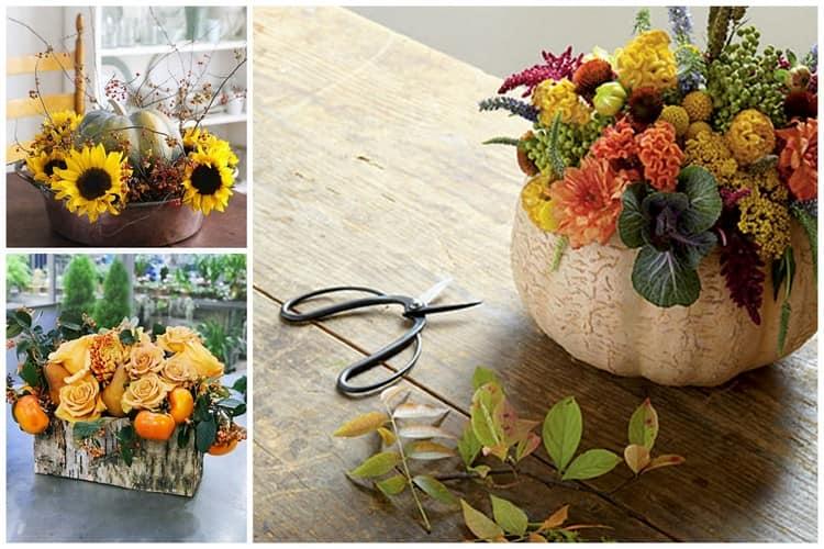 Идеи для поделок из осенних цветов