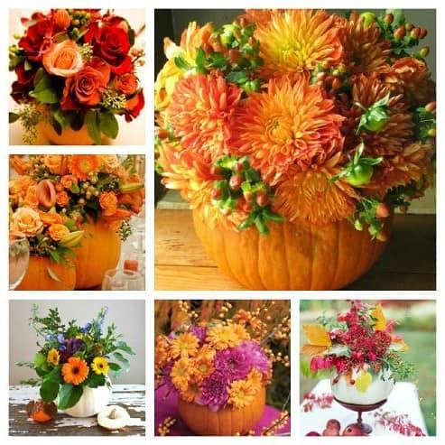 Что можно сделать из осенних цветов и листьев