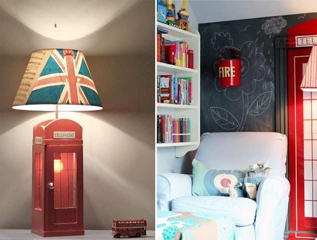 Разные идеи интерьеров с британскими флагами