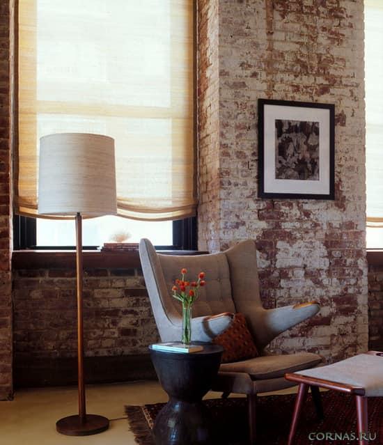 Как использовать кирпичную стену в квартире