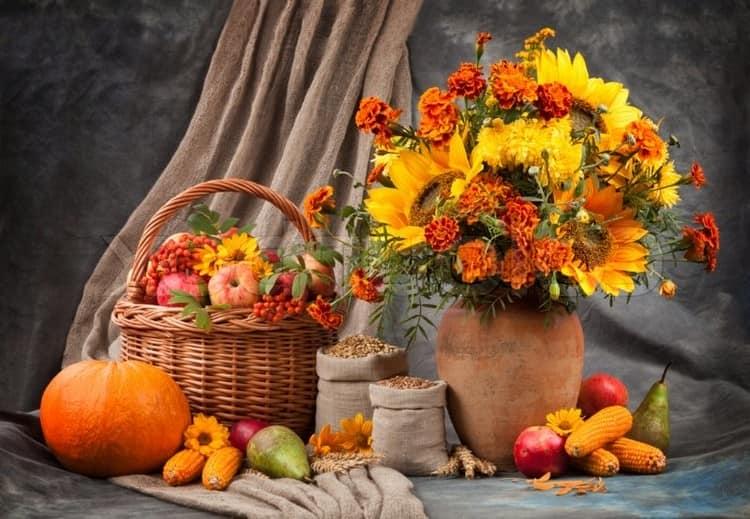 Украшаем дом корзинами и вазами с дарами природы