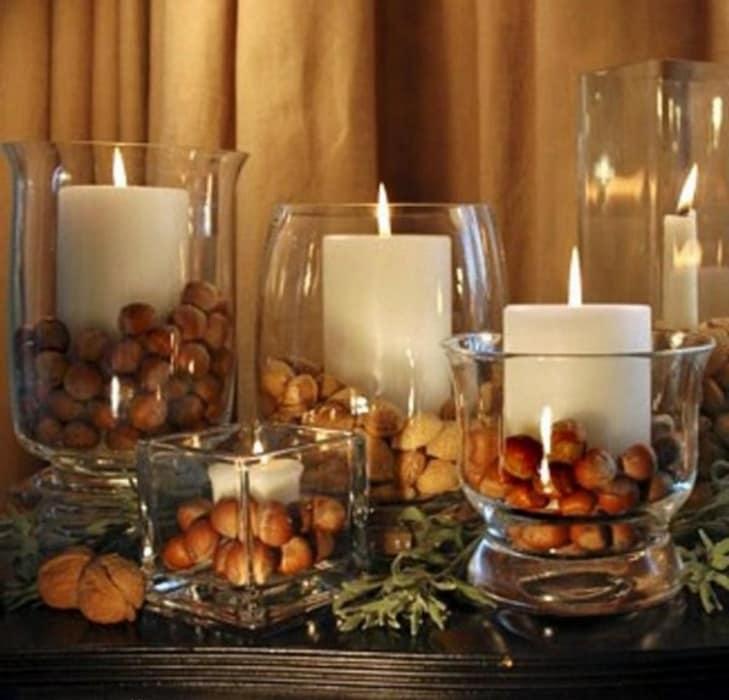 для фотографии интерьера свечей