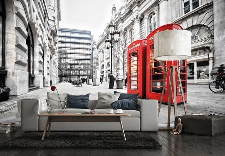 Фотообои Лондон в интерьере