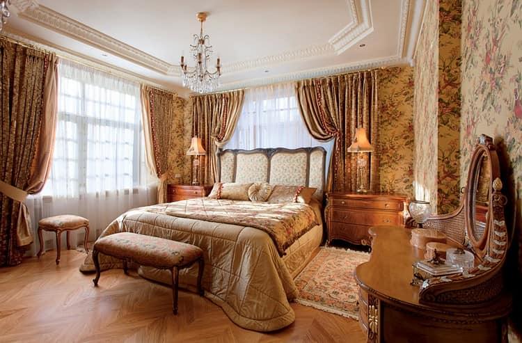 Спальня в английском интерьере