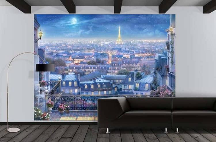 Фотообои ночного Парижа