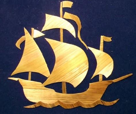 Картина из соломы своими руками: кораблик
