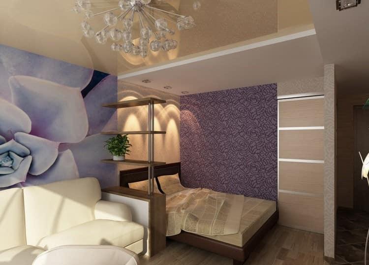 Интерьер комнаты в хрущевке