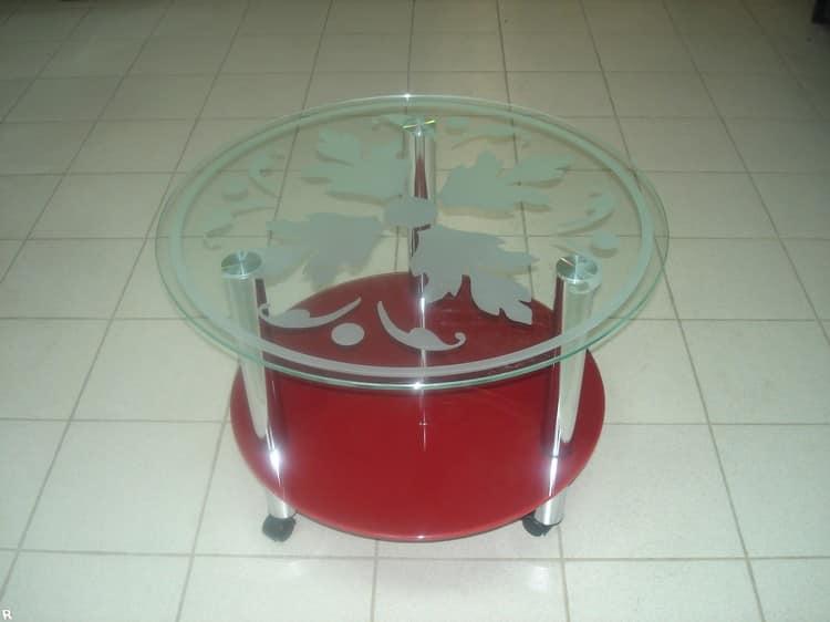 Декорирования стеклянного столика