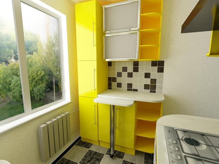 Установка окна и дизайн кухни в хрущевке