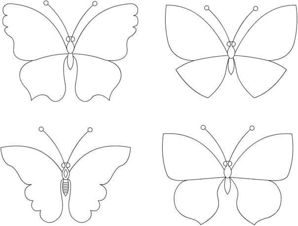 Трафарет в форме бабочек