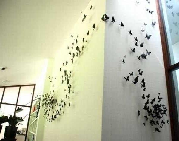 Декор для стен из бабочек своими руками