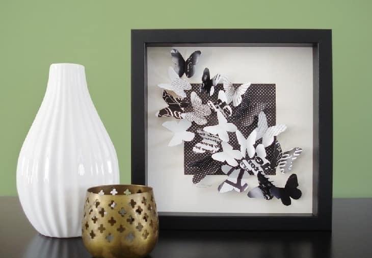 3D картина с оживающими бабочками