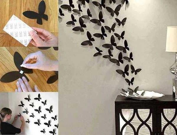 Делаем украшение из бабочек сами