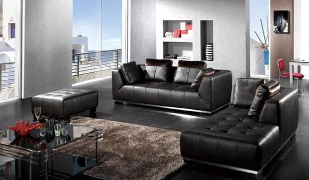 Черные диваны и кресла в современных интерьерах