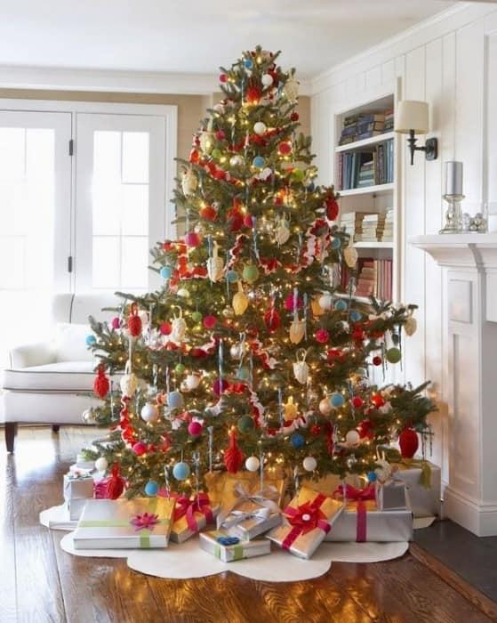 Украшение новогодней елки из фетра