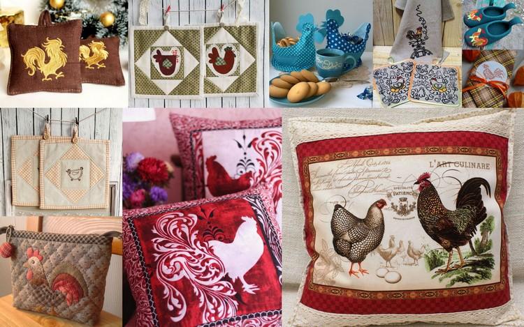 Текстиль для дома с петушками