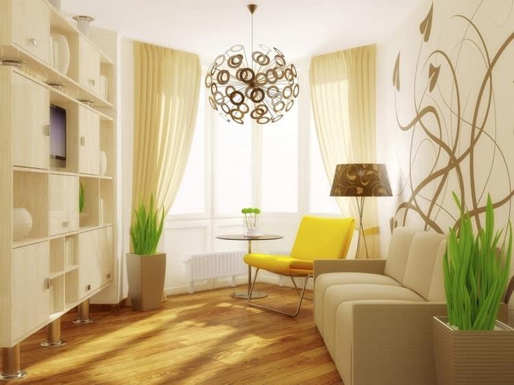 Цвет обоев для маленькой комнаты