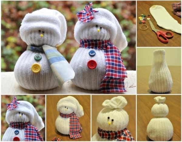 Мастер-класс: снеговик из носков своими руками