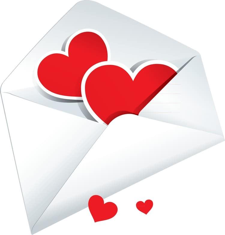 Валентинка с конвертиком