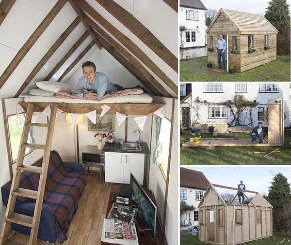 Маленький деревянный дом, построенный своими руками, и его интерьер