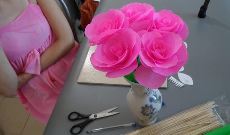 """Поделка """"розы"""""""