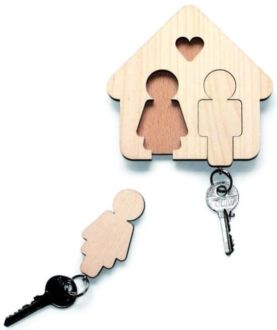 Ключница с парными ключами - милая вещица для подарка мужу