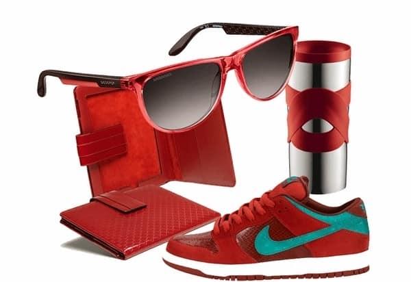 Модные аксессуары в красном цвете - любителям ярких красок