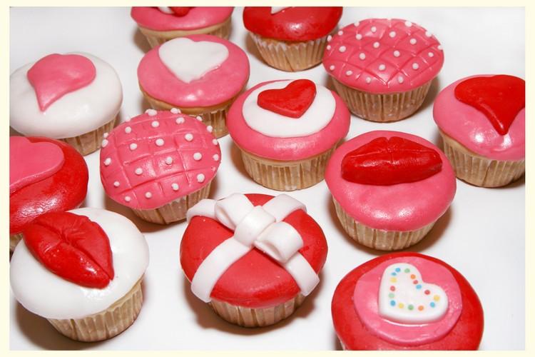 Кексы-сердечка