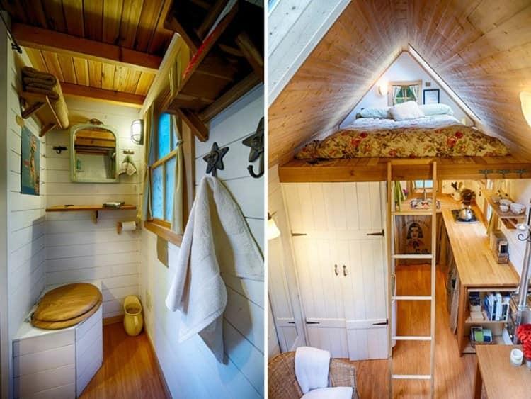 Идея для интерьера в одноэтажном доме - второй ярус под спальню