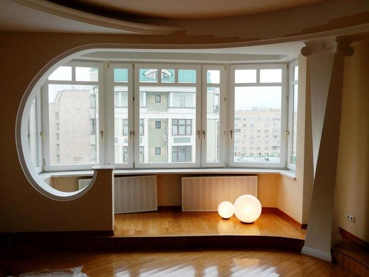 Объединение балкона и комнаты