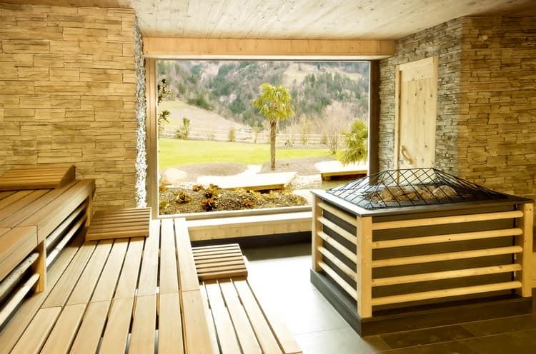 Планировка интерьера бани