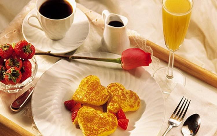 Завтрак ко дню святого Валентина
