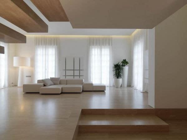 Зал в стиле минимализм
