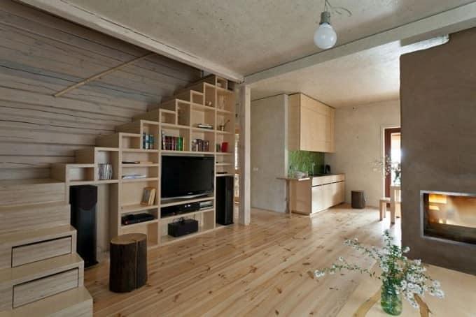 Система хранения в зале частного дома