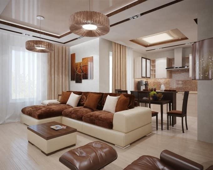 Мебель для интерьера зала в частном доме