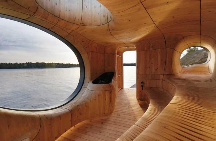 Необычный дизайн бани на даче