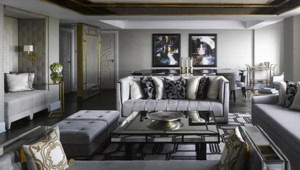 Дизайн гостиной в серых тонах - идеи и фото