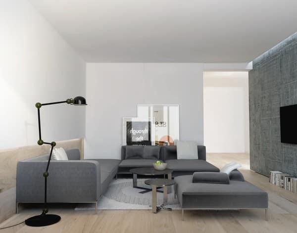 Мягкая серая мебель - выбираем темнее, чем цвет стен