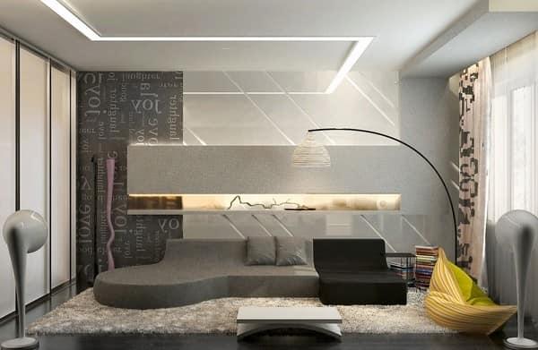 Серая мебель в интерьере гостиной - современные идеи