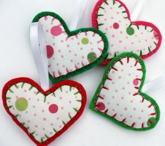 Обратная сторона сердечек - ткань с узором для создания романтичного настроения