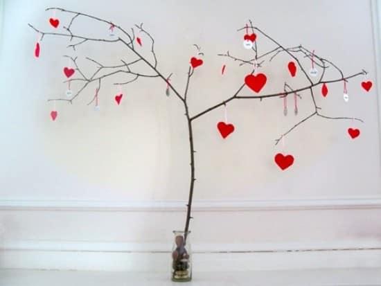 Романтичный декор на день святого Валентина