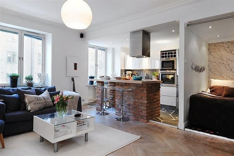 Интерьер квартиры - студии