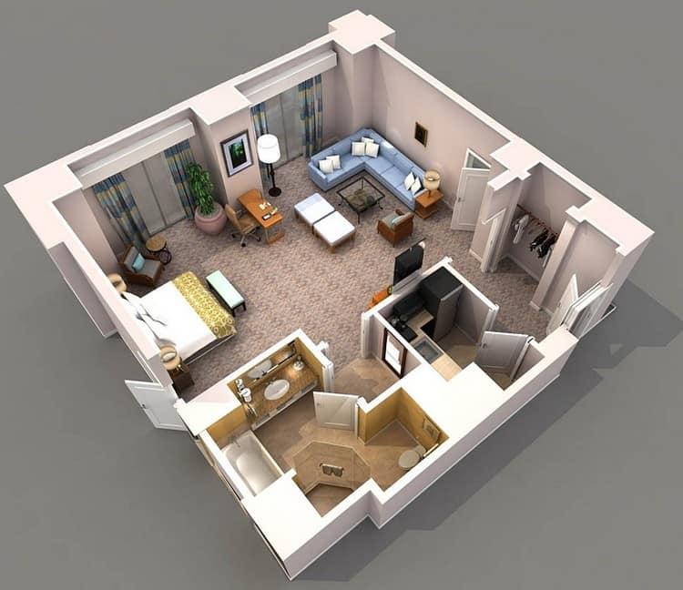 Зонирование квартиры. Вариант №2