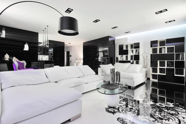 Оформление квартиры в черно-белом цвете