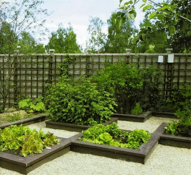 Обрамление грядок на современном огороде