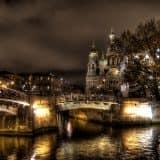 Городские фотообои: ночной город в интерьере (70 фото)