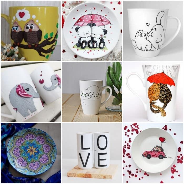 Роспись тарелки или кружки - идея для подарка
