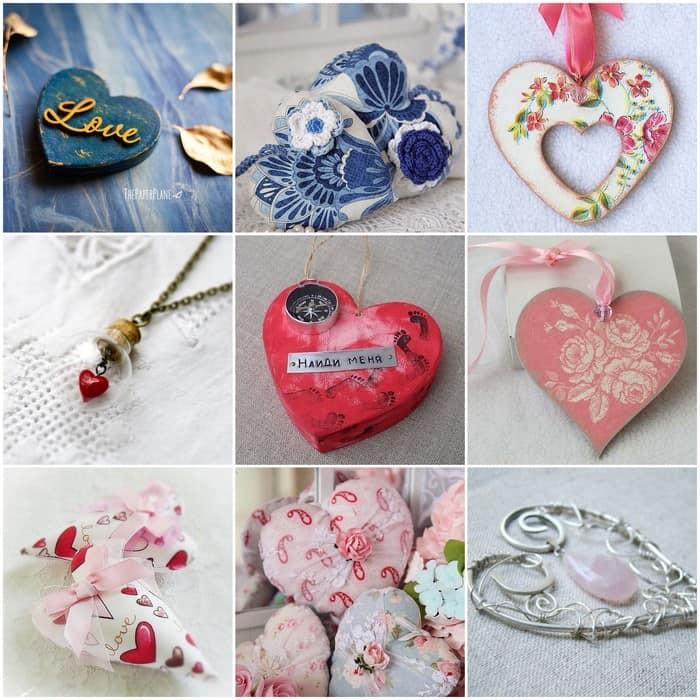 Подвески с сердечками для влюбленных