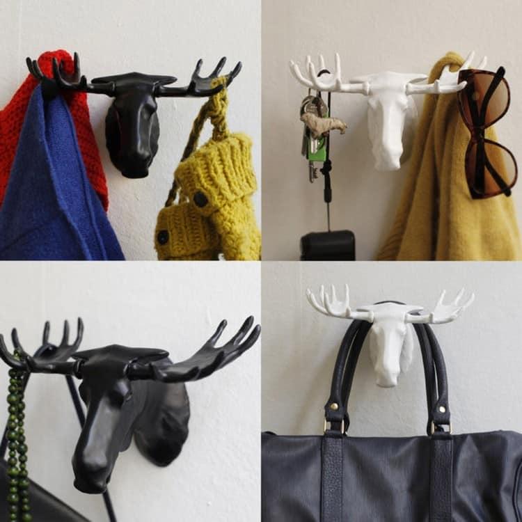 Настенная вешалка в прихожей: поделки своими руками и необычные идеи (37 фото)