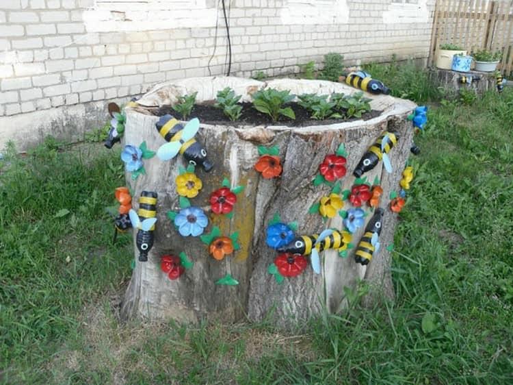 Поделки из бросового материала для дачи сада огорода своими руками 50